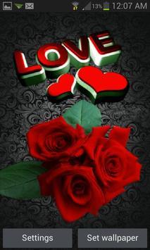 Lovely Roses Live Wallpaper poster