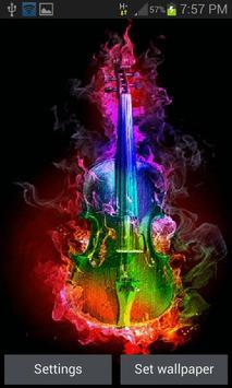 Multicolor Fire Guitar LWP poster