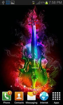 Multicolor Fire Guitar LWP apk screenshot