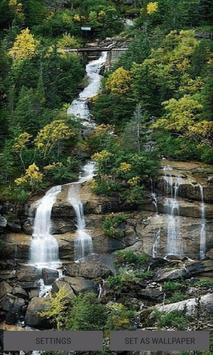 Nature Hilly Waterfall LWP poster
