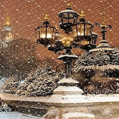 Night Snowy Lamps LWP icon