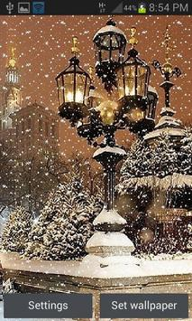 Night Snowy Lamps LWP poster