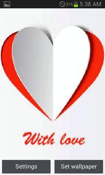 Paper Heart Live Wallpaper poster