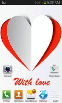 Paper Heart Live Wallpaper screenshot 1
