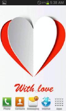 Paper Heart Live Wallpaper screenshot 2