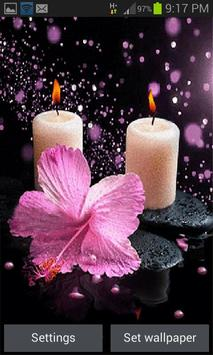 Pink Flower Candle LWP poster
