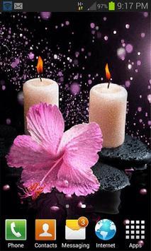 Pink Flower Candle LWP screenshot 1