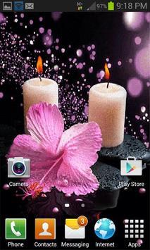 Pink Flower Candle LWP apk screenshot