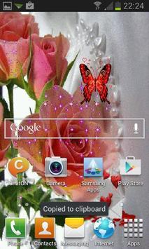 Pink Rose Butterfly LWP apk screenshot