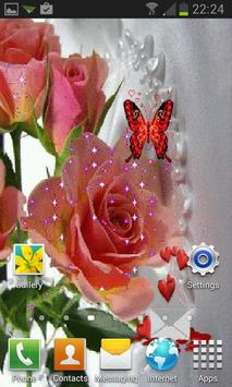 Pink Rose Butterfly LWP screenshot 2