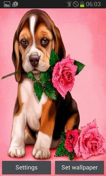 Puppy Rose Live Wallpaper poster