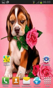 Puppy Rose Live Wallpaper screenshot 1
