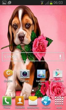 Puppy Rose Live Wallpaper screenshot 2