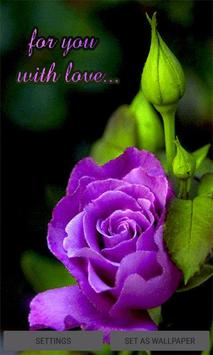 Purple Lovely Rose LWP poster