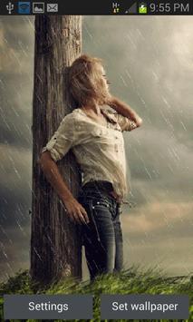 Rainy Beauty Girl LWP poster