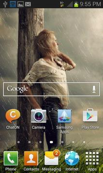 Rainy Beauty Girl LWP apk screenshot