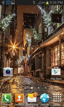 Rainy Christmas Night LWP apk screenshot