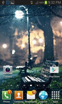 Rainy Garden Live Wallpaper apk screenshot