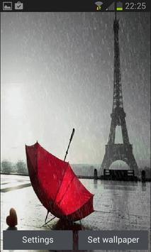 Rainy Red Umbrella LWP poster