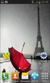 Rainy Red Umbrella LWP apk screenshot