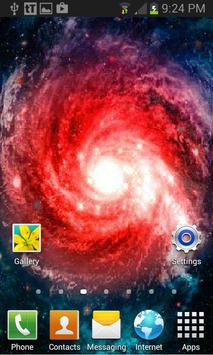 Red Tornado Galaxy LWP apk screenshot