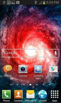 Red Tornado Galaxy LWP apk screenshot