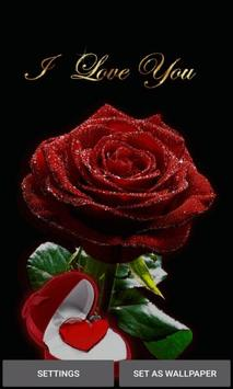 Red Heart Rose LWP poster