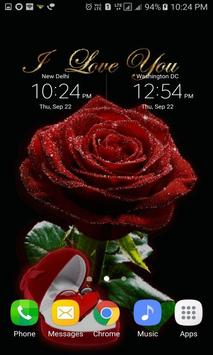 Red Heart Rose LWP apk screenshot