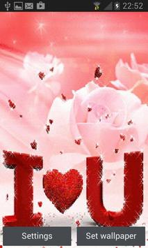 Red Hearts Rose LWP poster