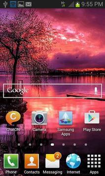 Redish Evening Lake LWP apk screenshot