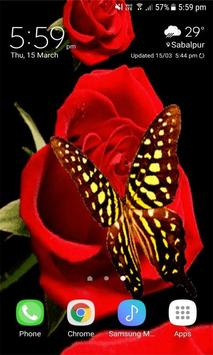 Red Roses Butterfly LWP screenshot 1
