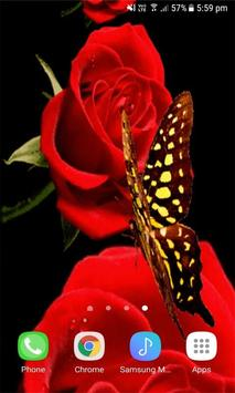 Red Roses Butterfly LWP screenshot 2