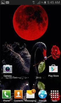 Red Rose Swan LWP screenshot 2