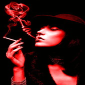 Red Smoke Girl LWP icon