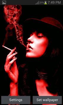 Red Smoke Girl LWP poster