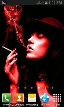 Red Smoke Girl LWP apk screenshot