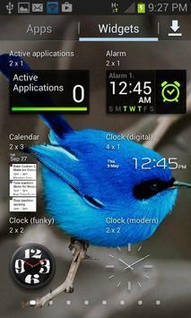 Small Blue Bird LWP apk screenshot