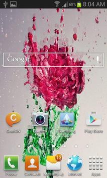 Splash Red Rose LWP poster