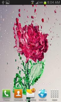 Splash Red Rose LWP apk screenshot