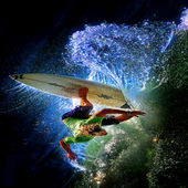 Surfing On Wave LWP icon
