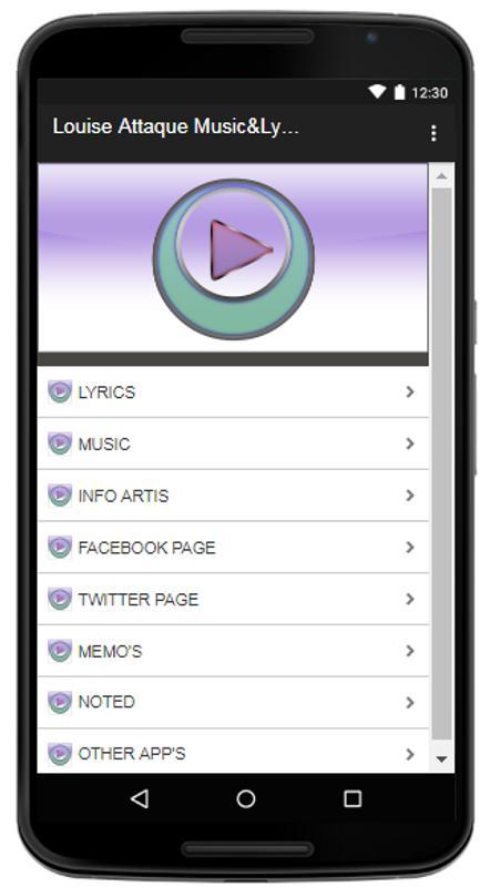 Louise attaque musiclyrics apk download free entertainment app louise attaque musiclyrics poster stopboris Gallery