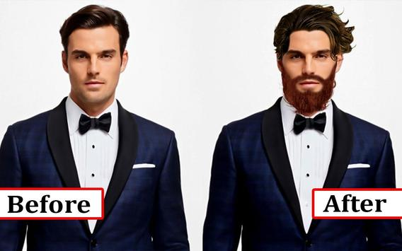 Man Suit Photo Editor-Beard-Mustache-Hairstyles screenshot 3