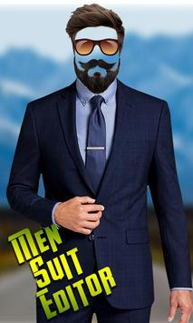 Man Suit Photo Editor-Beard-Mustache-Hairstyles poster