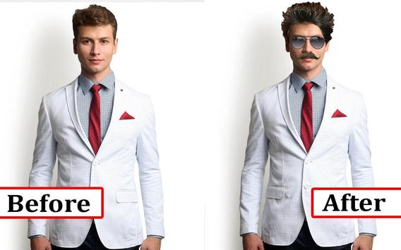 Man Suit Photo Editor-Beard-Mustache-Hairstyles screenshot 5