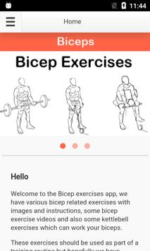 Bicep Exercises poster