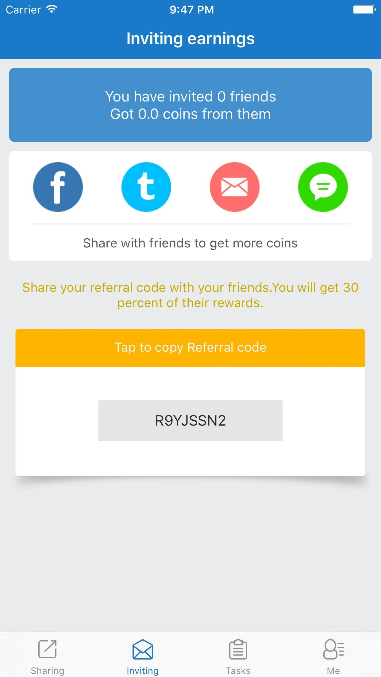 cash gift free gift cards referral code