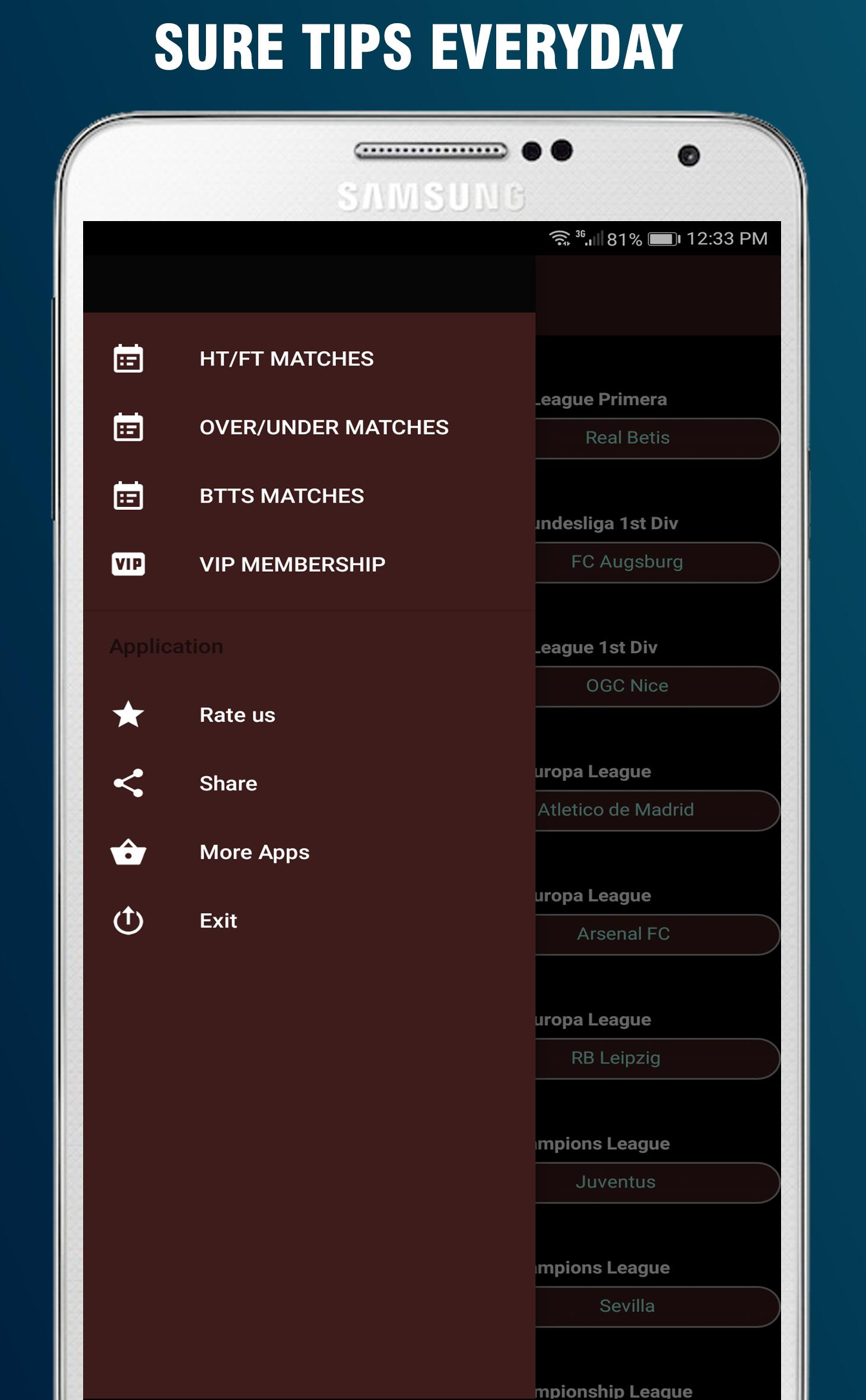 New betting tips application under over betting rules
