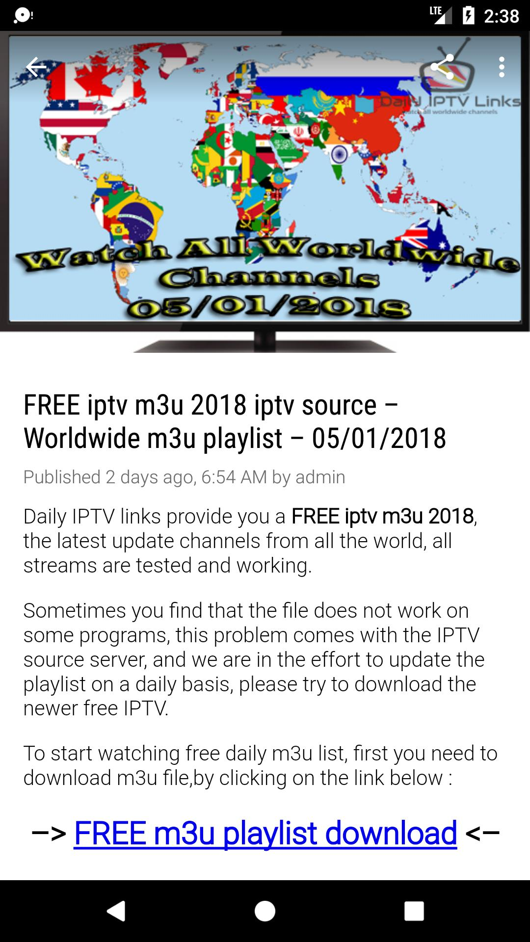 Daily IPTV M3U PLAYLIST for Android - APK Download