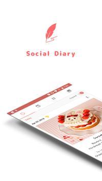 Daily life: Social diary poster