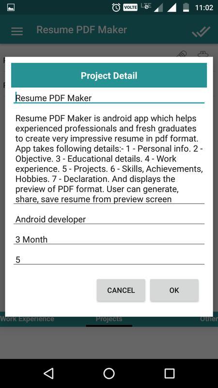 Resume PDF Maker / CV Builder APK Download - Free Business APP for ...